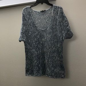 Eileen Fisher cotton knit short sleeve sweater